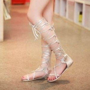 Silver And Gold Color Summer Women s Flat Sandals