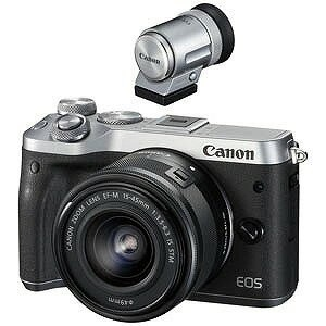 Canon (数量限定)EOS M6・EVFキット(EF−M15−45 IS STM レンズキット)シルバー EOSM6SL1545ISEVFK(送料無料)