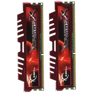 G。Skill RipjawsX 4 GB ( 2 x 2 GB ) ddr3 pc3 – 12800 for Sandy Bridge ( 9 – 9 - 9 – 24 )デュアルチャネルキット(...