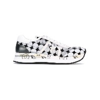 Premiata White - circle print sneakers - women - レザー/ポリエステル/Foam Rubber - 40