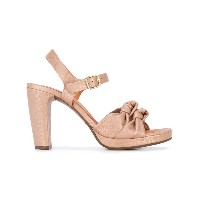 Chie Mihara - knot heeled sandals - women - レザー/Foam Rubber - 37.5