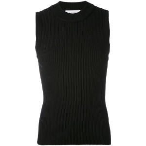 Carven - ribbed knit top - women - ナイロン/スパンデックス/ビスコース - L