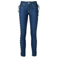 Amapô - side lace up skinny jeans - women - コットン/ポリエステル - 42