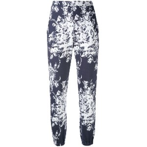 Sonia Rykiel - printed high waisted trousers - women - コットン - XS