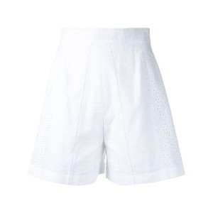 Flow The Label - high-rise tailored shorts - women - コットン - M