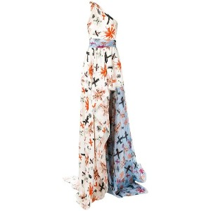Fausto Puglisi - flared maxi dress - women - シルク/アセテート - 42