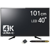 [DLT] W40DUHT 40 Inch Real 4K UHD TV HDMI 60Hz 3840x2160 LED TV Monitor (海外直送品) [並行輸入品]