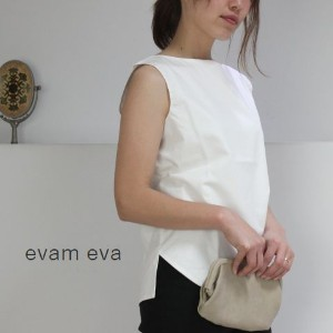【ev】evam eva(エヴァムエヴァ) sleeveless button back shirtmade in japane171t148-c