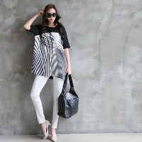 [zoozoom] Print coloring blouse 3color / 26356