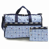 LeSportsac 7185-P930 LARGE WEEKENDER ディズニー ラージウィークエンダー ボストン バッグ CHECKS AND BOWS/ [並行輸入品]