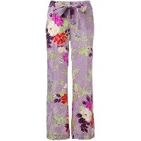 Etro - floral flared trousers - women - シルク/ビスコース - 44