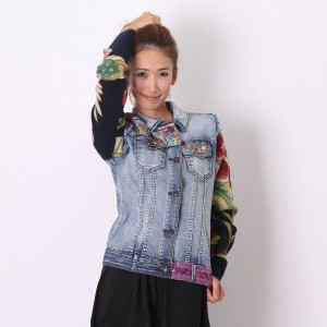 【SALE 10%OFF】デシグアル Desigual CHAQ_ETHNIC DELUXE (DENIM MEDIUM WASH)