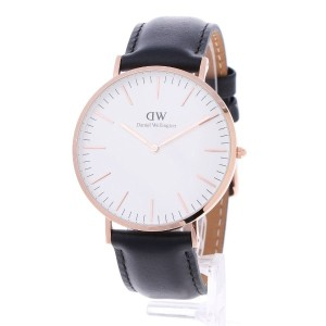 【SALE 40%OFF】ダニエル ウェリントン Daniel Wellington Sheffield Rose gold 40mm (BLACK)