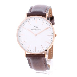 【SALE 40%OFF】ダニエル ウェリントン Daniel Wellington Bristol Rose gold 40mm (D/BROWN)
