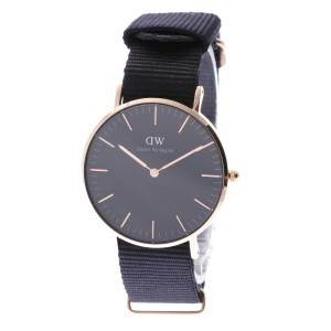 【SALE 35%OFF】ダニエル ウェリントン Daniel Wellington CLASSIC BLACK Cornwall Rose gold 36mm (BLACK)