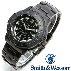 【クーポン対象外】 Smith & Wesson スミス&ウェッソン SWISS TRITIUM DIVER WATCH 腕時計 BLACK/BLACK SWW-900-BLK