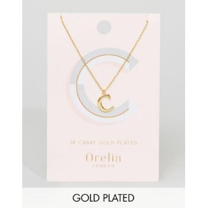 Orelia Gold Plated Large C Initial Necklace