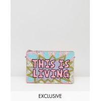 from st xavier x how two live hand beaded this is living clutch bag ハンド ゼイビア イズ ライブ バッグ ディス ビーズ...
