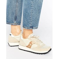 【ポイント2倍!5/25 1:59まで】【送料無料】Saucony Exclusive Jazz Original Vintage ヴィンテージ Trainers In Cream &...