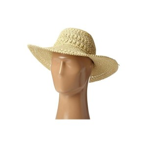 スカラ SCALA レディース 帽子 ハット【Big Brim Crocheted Toyo Hat】Natural