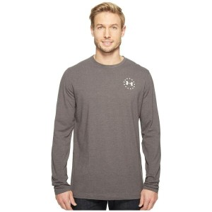 アンダーアーマー Under Armour メンズ トップス Tシャツ【Freedom Flag Long Sleeve Tee】Carbon Heather/White