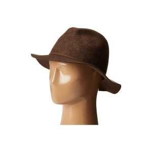 スカラ SCALA メンズ 帽子 ハット【Crushable and Packable Safari Hat with Raw Edge】Brown