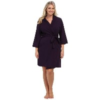 ジョッキー Jockey レディース インナー バスローブ【Jockey Cotton Essentials Plus Size Robe】Eggplant