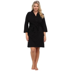 ジョッキー Jockey レディース インナー バスローブ【Jockey Cotton Essentials Plus Size Robe】Black