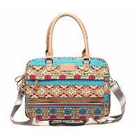 Soter / Bohemian Style Canvas Single Shoulder Bag for Laptop Notebook Computer / Bohemian Style 13...