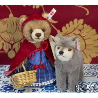 Steiffシュタイフ 世界限定 フェアリー・テイル・ワールド赤ずきんちゃんと狼 Little Red Riding Hood with wolf