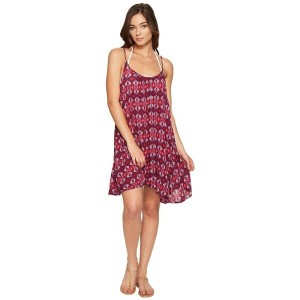 ロキシー Roxy レディース 水着 ビーチウェア【Windy Fly Away Print Dress Cover-Up】Grape Wine Gerona Nights