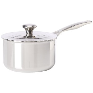 Le Creuset Tri-Ply Stainless Steel Saucepan with Lid, 2-Quart [並行輸入品]