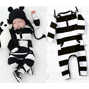 Infant Baby Outfit Misaky Boy Girl Cotton Romper Jumpsuit Bodysuit Clothes (70 6M Black)