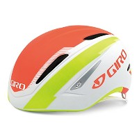 GIRO(ジロ) サイクルヘルメット AIR ATTACK MATTE WHITE/FLAME LIME M 7066425