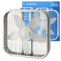 LASKO FAN 3SPEED 20inch(52x52x10.5CM) BOX FAN 扇風機 サーキュレーター -WHITE-
