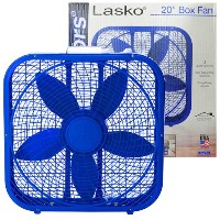 LASKO FAN 3SPEED 20inch(57x55x11CM) BOX FAN 扇風機 サーキュレーター -BLUE-