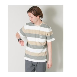 UR FIDELITY PIQUE BORDER CREW-NECK T-SHIRTS【アーバンリサーチ/URBAN RESEARCH Tシャツ・カットソー】