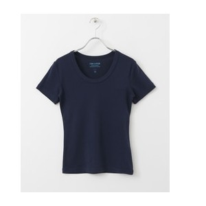 DOORS FORK&SPOON Soft Ribbed T-SHIRTS【アーバンリサーチ/URBAN RESEARCH レディス Tシャツ・カットソー NAVY ルミネ LUMINE】
