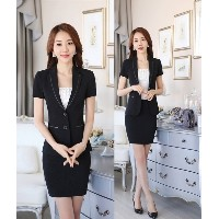 New Fashion Formal Uniform Styles Short Sleeve Ladies Office Interview Job Summer Professional...