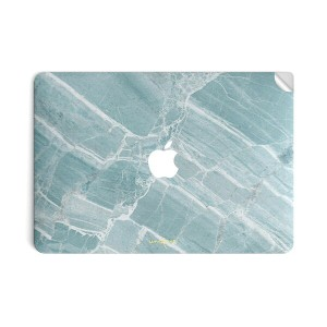 UNIQFINDユニークファインド MacBook Air/Pro 13インチ スキンシール/保護シール Mint Marble【ipad Air mini Pro Apple macbook...