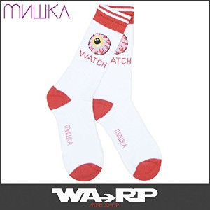 MISHKA ミシカ KEEP WATCH CLASSIC SOCKS(WHITE)