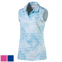 Puma Ladies Bloom Stripe Sleeveless Golf Polo (#572214)【ゴルフ レディース>トップス】