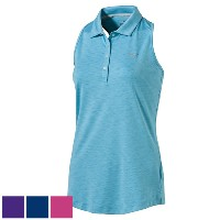 Puma Ladies Racebacl Sleeveless Golf Polo (#572372)【ゴルフ レディース>トップス】