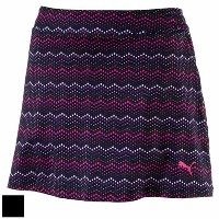 Puma Ladies Zig Zag Knit Golf Skirt (#572336)【ゴルフ レディース>スコート】
