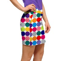 LoudMouth Ladies Woodworth Disco Balls White Skort【ゴルフ レディース>スコート】