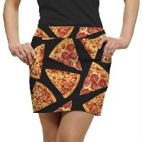 LoudMouth Ladies Pizza Slices Skort【ゴルフ レディース>スコート】