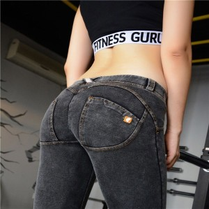 New Women Freddy Pants High Elastic Push Up Leggings Sexy Hip Jeans Fashion Freddy Pants Femme Fitne