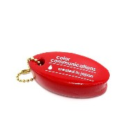 COLOR COMMUNICATIONS KEY CHAIN(カラーコミュニケーションズ)キーホルダー CREATED IN JAPAN FLOATER 赤(スケートボード)(スケボー)...