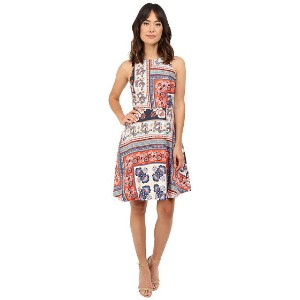 Donna Morgan Sleeveless Twill Fit and Flare with Print