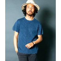 【Magine(マージン)】1726-38-12G CTN ACID WASH HERRING BONE RIB KNIT S/S ニット